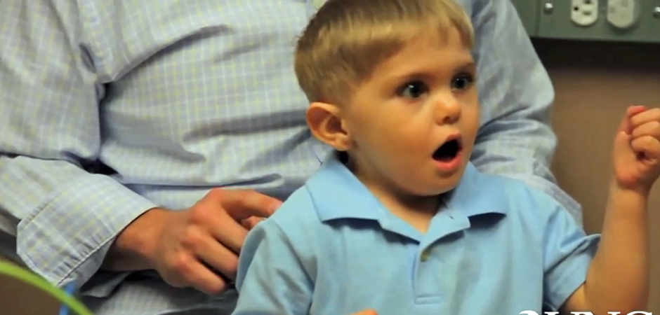 Deaf Toddler Hears Father