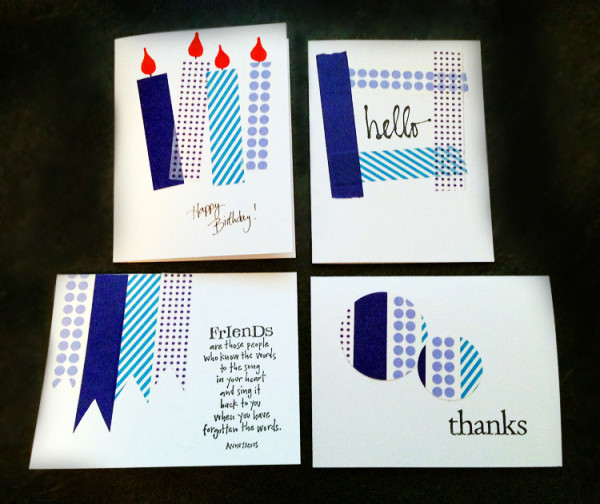 Washi Tape Cards 2