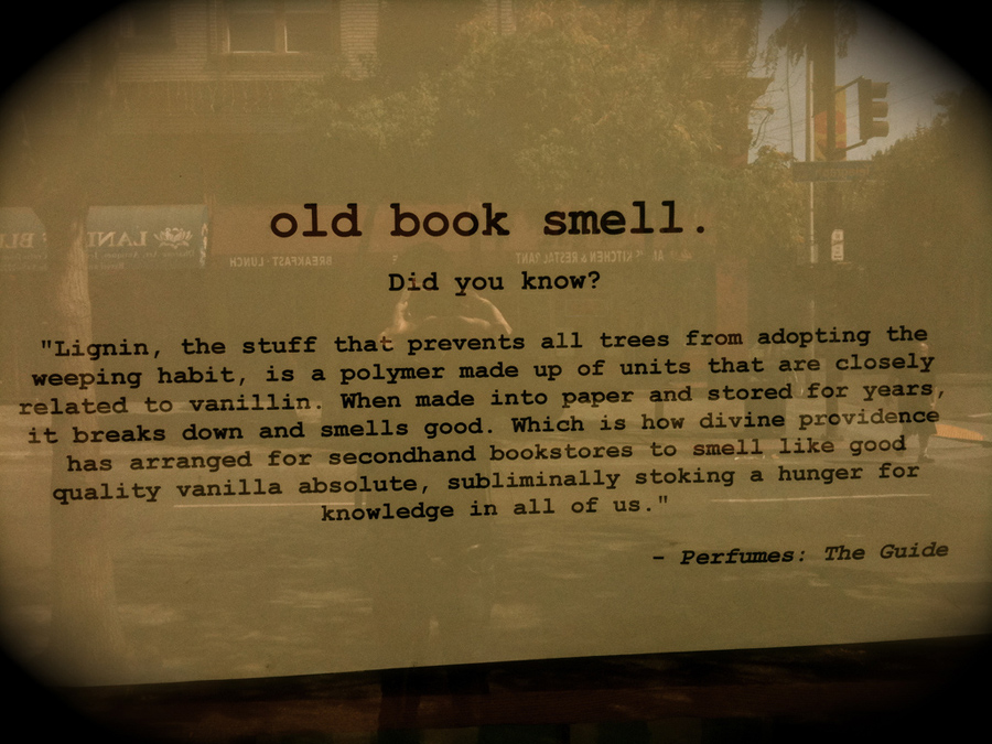 that old book smell 2018-2-6  what causes that old-person smell we know it when we smell it, though it can be hard to describe, and even harder to talk about sometimes we describe it as musty, sometimes as medicinal, sometimes -- sadly -- we just find it vaguely unpleasant.