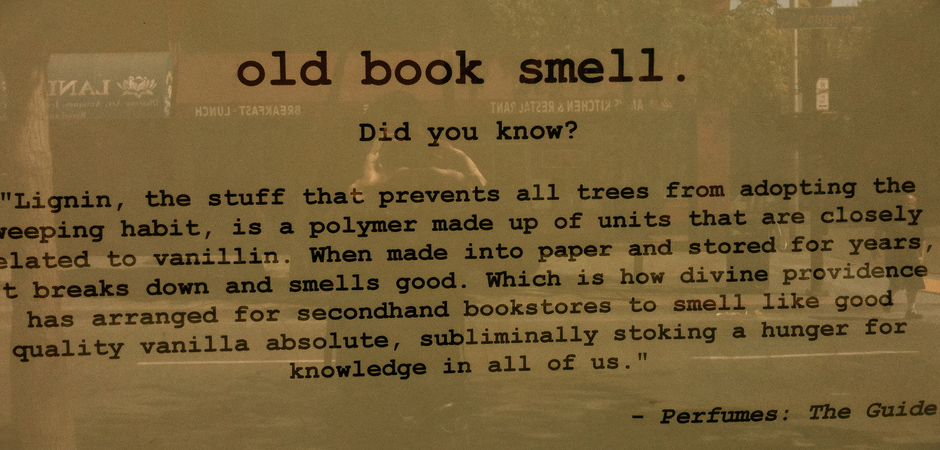 Old Book Smell slide