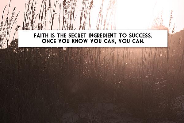 Faith is the secret FB