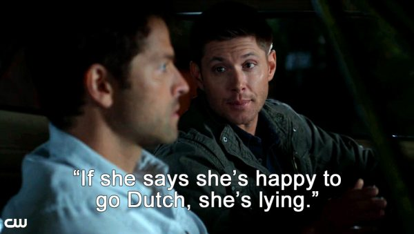 Supernatural Heaven Can't Wait Dean Cas dating advice
