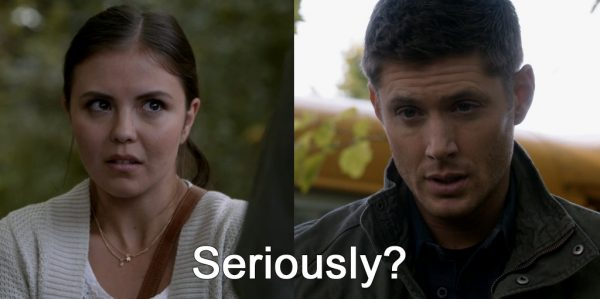 Supernatural Heaven Can't Wait Dean talking to girl