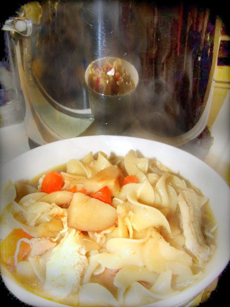 Chicken Noodle Soup With Beer Broth 2