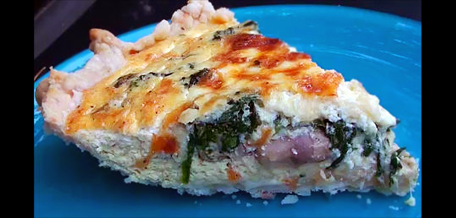 Spinach and Mushroom Quiche slide