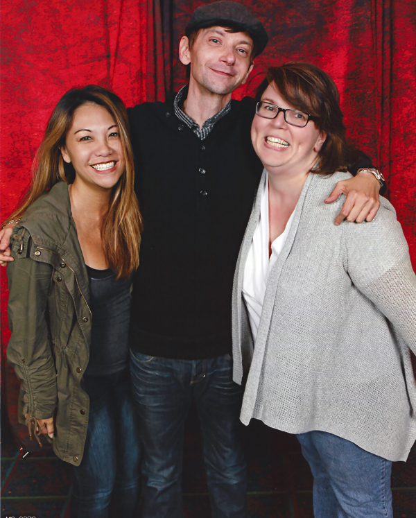 Supernatural BurCon 2013 DJ Qualls photo op Nanea and Barbara