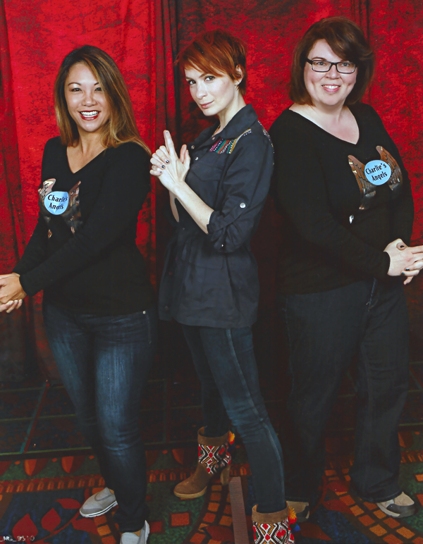 Supernatural BurCon 2013 Felicia Day photo op Nanea and Barbara