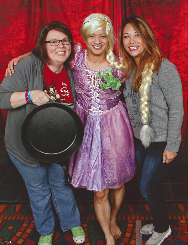 Supernatural BurCon 2013 Osric Chau photo op Barbara and Nanea