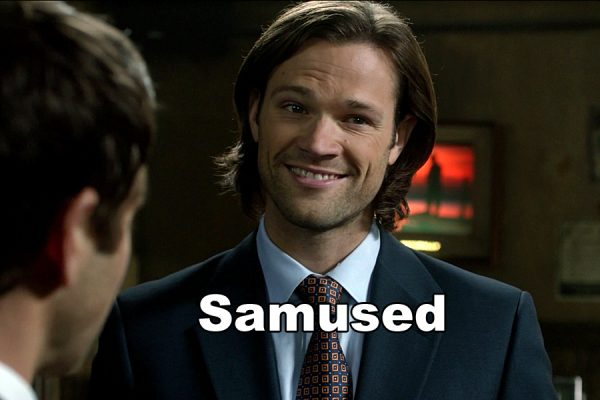 Supernatural Holy Terror Sam Winchester amused