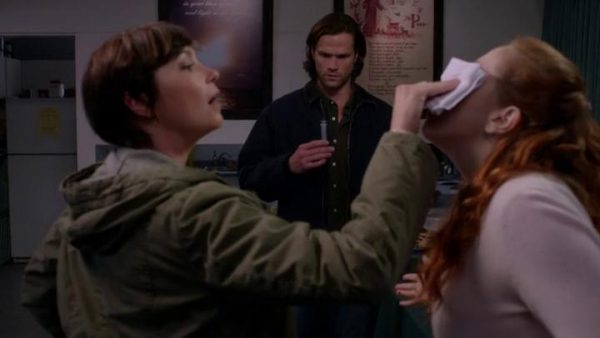Supernatural S9E8 Rock And A Hard Place Jody makes a virgin bleed