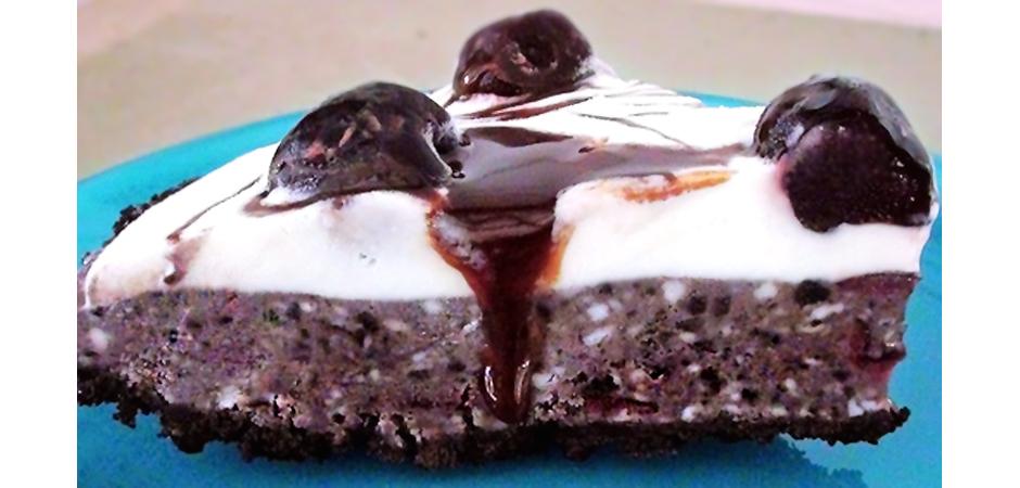 Chocolate Cherry Cheesecake Pie Kitchen Witch slide