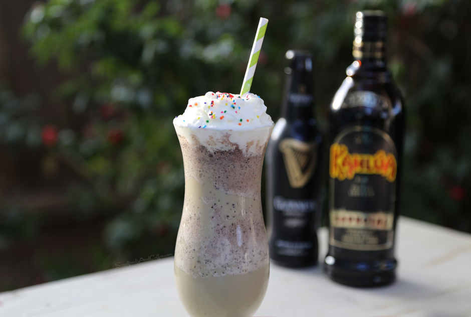 Guinness Kahlua Mint Chocolate Chip Shake