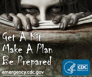 When the Zombies rise, be prepared for anything. (Photo credit: emergency.CDC.gov)