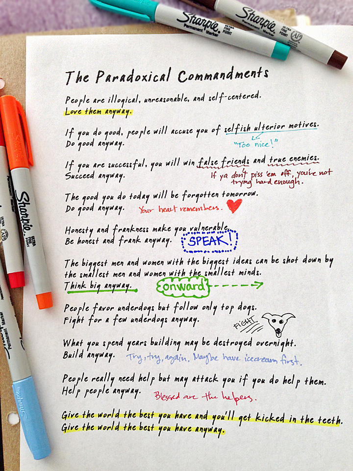 Paradoxical Commandments