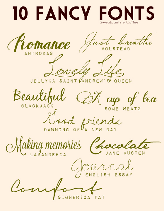 Creative lifestyles | 10 fancy fonts |.