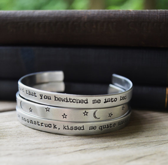 Sylvia Plath You Have Bewitched Me bracelet