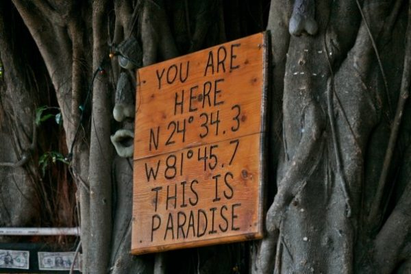 This is Paradise: A momento from a Literary Seminar the author attended in Key West, Florida. <em>Photo by Terry Price</em>