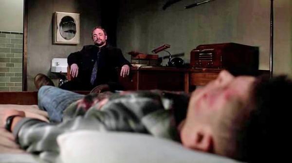 22 Supernatural SPN S9 E23 Dean Winchester Crowley Jensen Ackles Mark Sheppard
