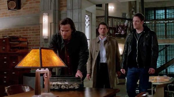 7 Supernatural SPN S9 E23 Sam Winchester Castiel Gadreel Jared Padalecki Misha Collins Tahmoh Penikett