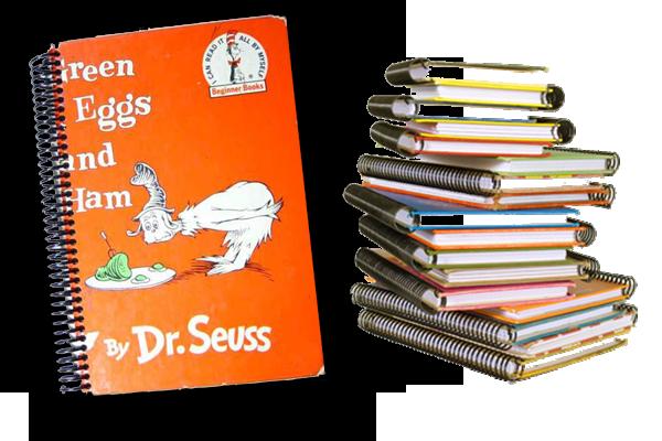 Exlibris repurposed book journals