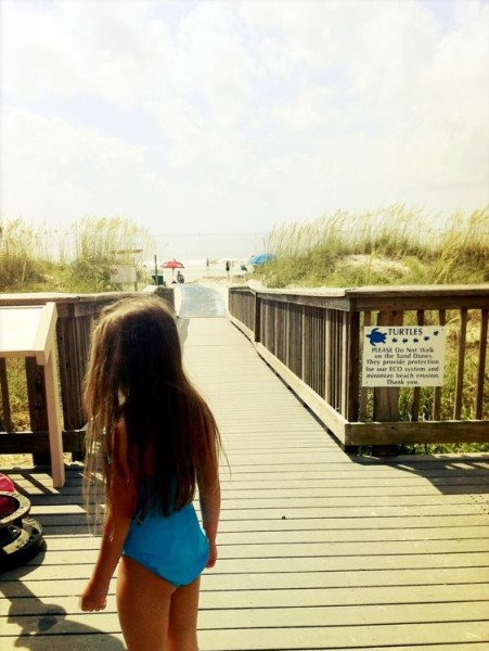 On The Pier: Most Hilton Head beaches have easy access to the shore.
