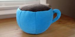 Plush Coffee Cup Fleece Menagerie Slide