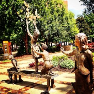 The Four Little Girls memorial statue in Kelly Ingram Park. Photo Credit: Wendie Burbridge