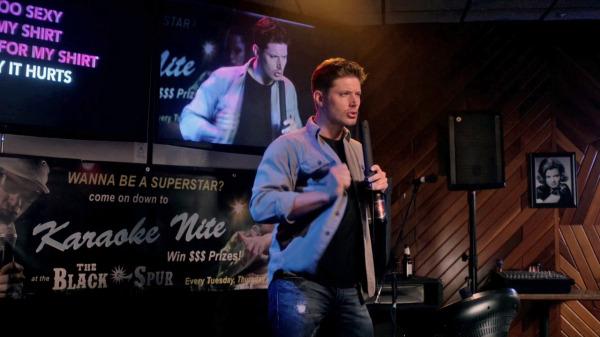 8 Supernatural Season 10 Episode 1 S10E1 Black Dean Winchester Jensen Ackles Karaoke