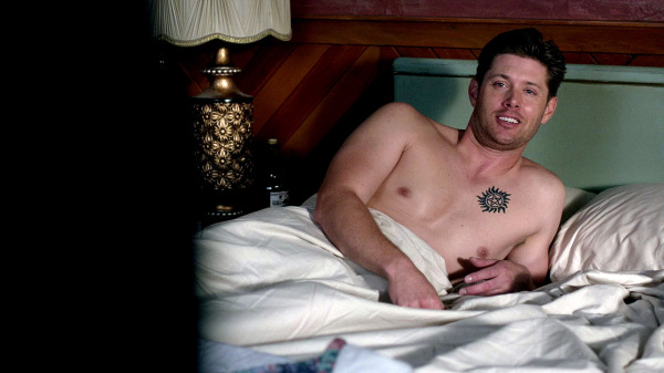 9 Supernatural Season 10 Episode 1 S10E1 Black Dean Winchester Jensen Ackles Shirtless