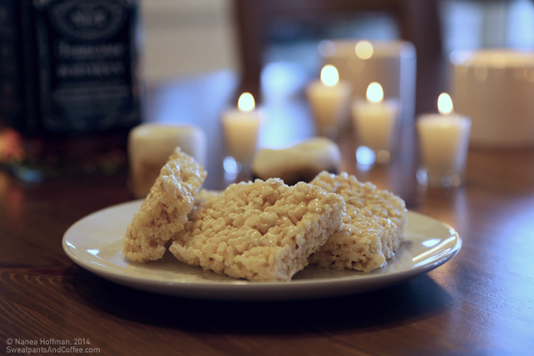Brown Butter Bourbon Rice Krispie Treats recipe