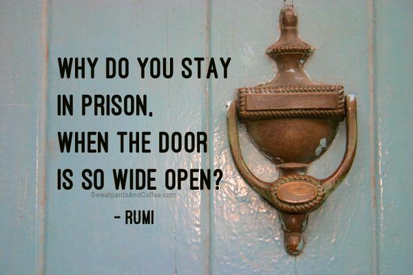 Rumi quote prison