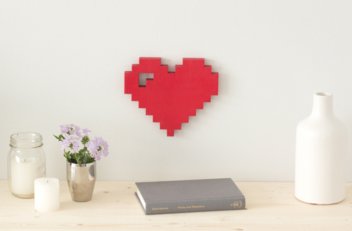 Wordbilly 8 bit pixel heart sign