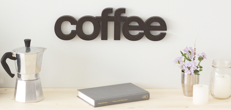 slide Wordbilly Coffee sign