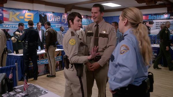 14 Supernatural SPN Season Ten Episode Eight S10E8 Hibbing 911 Sheriff Jody Mills Kim Rhodes Donna Hanscum Briana Buckmaster Doug Kontos Michael Karl Richards