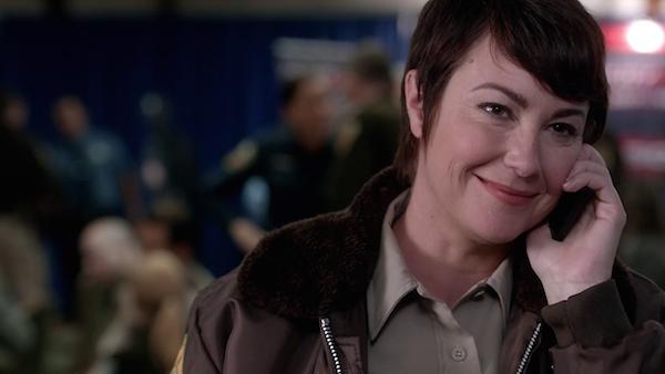 1b Supernatural SPN Season Ten Episode Eight S10E8 Hibbing 911 Sheriff Jody Mills Kim Rhodes