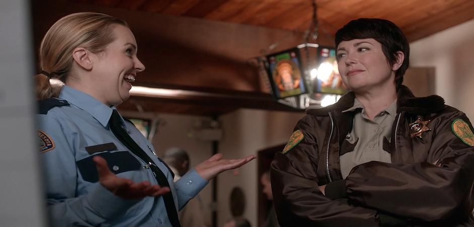 4 Supernatural SPN Season Ten Episode Eight S10E8 Hibbing 911 Sheriff Jody Mills Kim Rhodes Donna Hanscum Briana Buckmaster