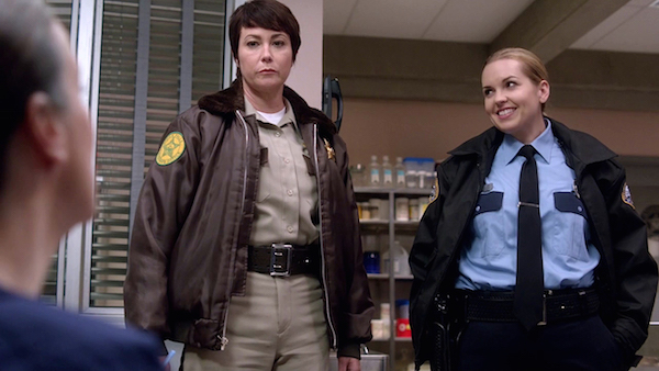 7 Supernatural SPN Season Ten Episode Eight S10E8 Hibbing 911 Sheriff Jody Mills Kim Rhodes Donna Hanscum Briana Buckmaster