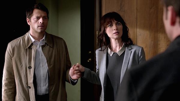 8 Supernatural Season 10 Episode 7 SPN S10E7 Girls Castiel Hannah Misha Collins Erica Carroll