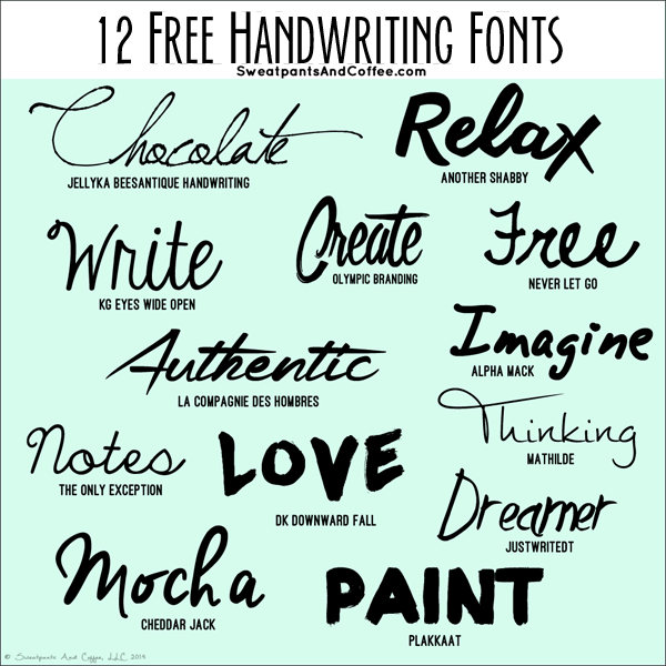 Free Handwriting Fonts For Projects And Snail Mail
