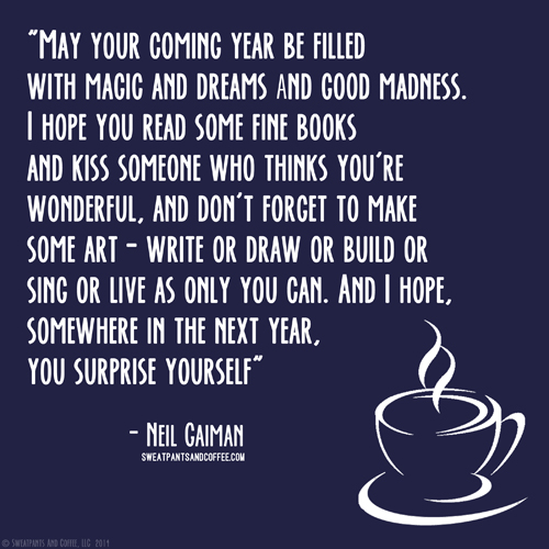 Neil Gaiman New Year quote_