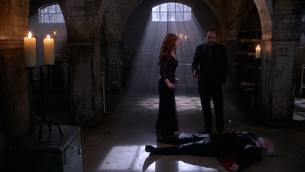 16 Supernatural Season 10 Episode 10 SPN S10E10 The Hunter Games Crowley Rowena Guthrie Mark Sheppard Ruth Connell