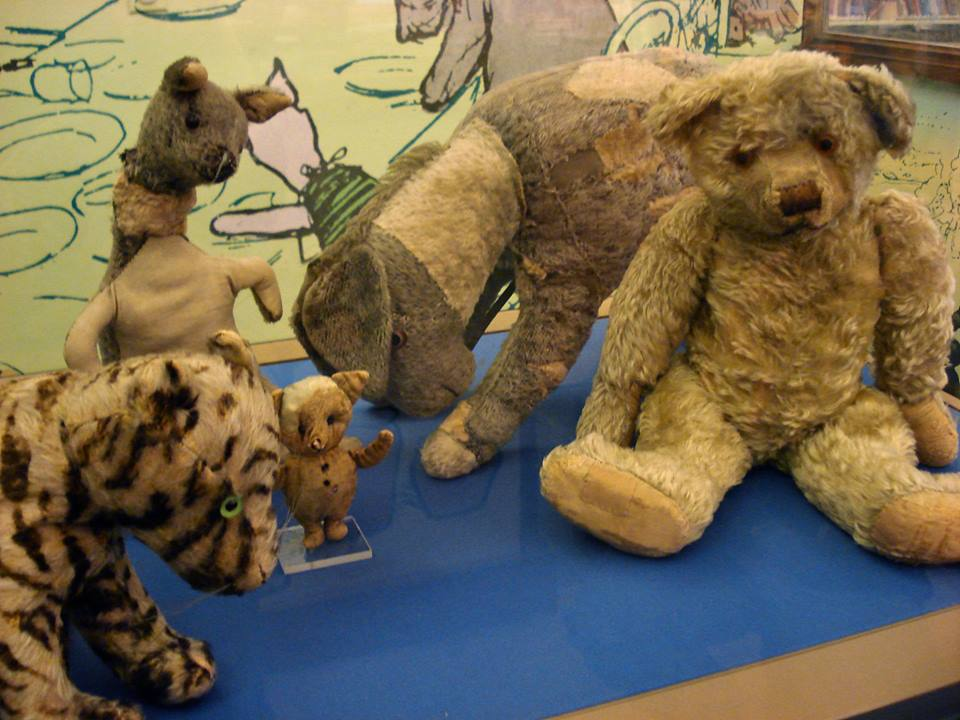 The original stuffed toys that inspired the iconic characters we love today on display the New York Public Library. Read more about them here:http://exhibitions.nypl.org/treasures/items/show/28