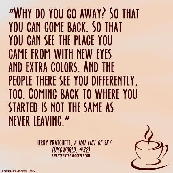 Terry Pratchett Hat Full Of Sky quote