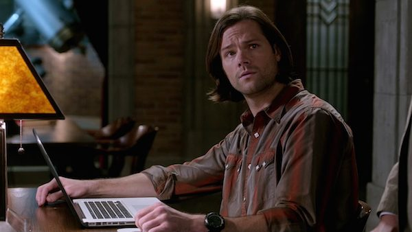 12 Supernatural Season Ten Episode Fourteen SPN S10E14 The Executioners Song Sam Winchester Jared Padalecki Bunker Laptop