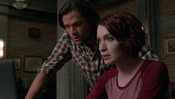 16 Supernatural Season Ten Episode Eleven SPN S10E11 There No Place Like Home Sam Winchester Jared Padalecki Felicia Day Charlie Bradbury Bunker