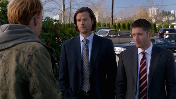 2 Supernatural Season Ten Episode Twelve SPN S10E12 About A Boy Sam Dean Winchester Jensen Ackles Jared Padalecki Fed Suits