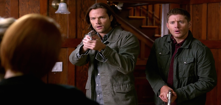 7b Supernatural Season Ten Episode Eleven SPN S10E11 There No Place Like Home Dean Sam Winchester Jared Padalecki Jensen Ackles Felicia Day Charlie Bradbury Dark