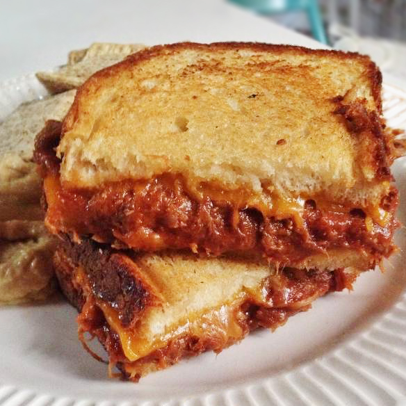 BBQ Chicken Grilled Cheese