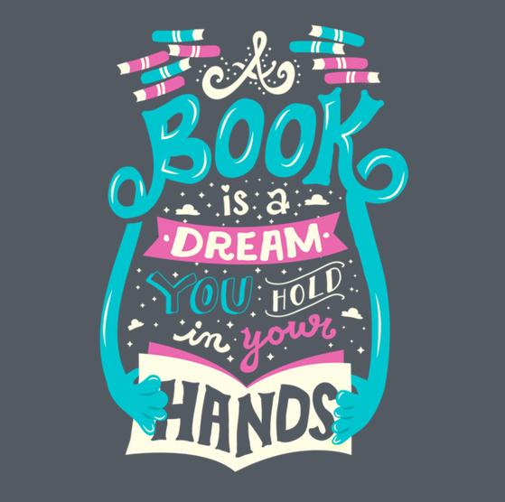 Book Is A Dream tshirt closeup