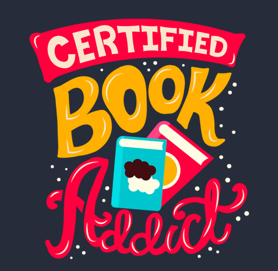 Certified Book Addict tshirt closeup